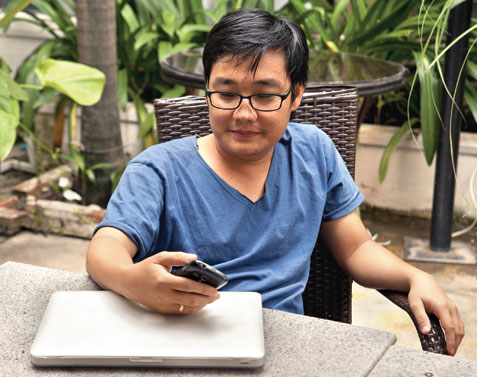 Tharum Bun is one of Cambodia's first bloggers and says the government will get nowhere if it attempts to shut down Facebook. Omar Havana for SEA Globe