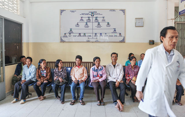 In the queue: although up to 300 people seek help at the Khmer-Soviet Friendship Hospital daily, the government has other priorities