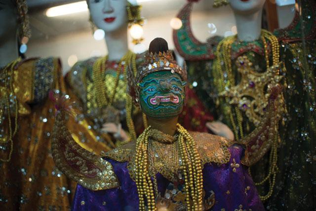 Best face forward: colourful Thai dolls dazzle in pretty jewels. Photo: James McDonald