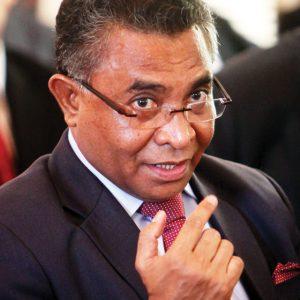 Meet the new boss: Timor-Leste's new prime minister, Rui Maria de Araujo, during his inauguration ceremony in February. Photo: EPA/Antonio Dasiparu
