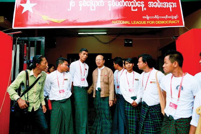 national league for democracy, NLD, Myanmar, Burma, politics