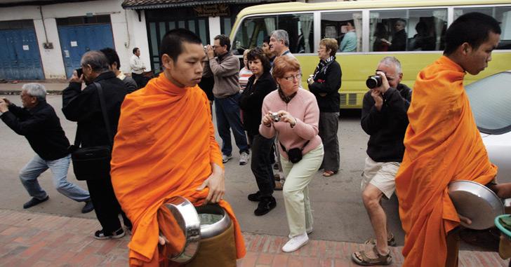 Tourist hordes put strain on Luang Prabang's heritage