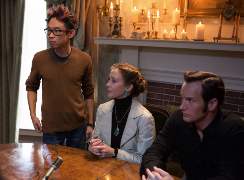 James Wan and the stars of The Conjuring 2