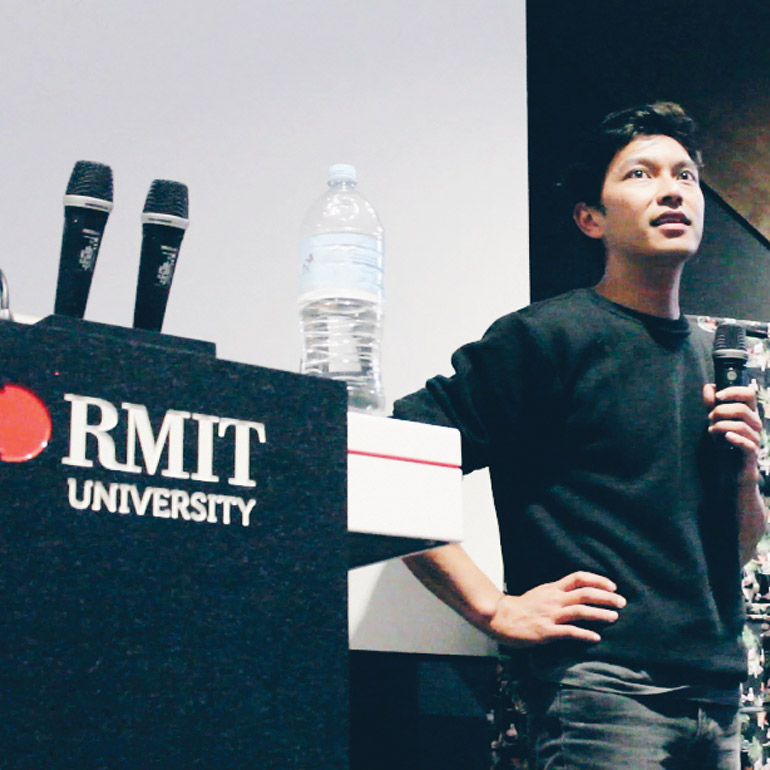 Koky Saly graduated from RMIT in Melbourne
