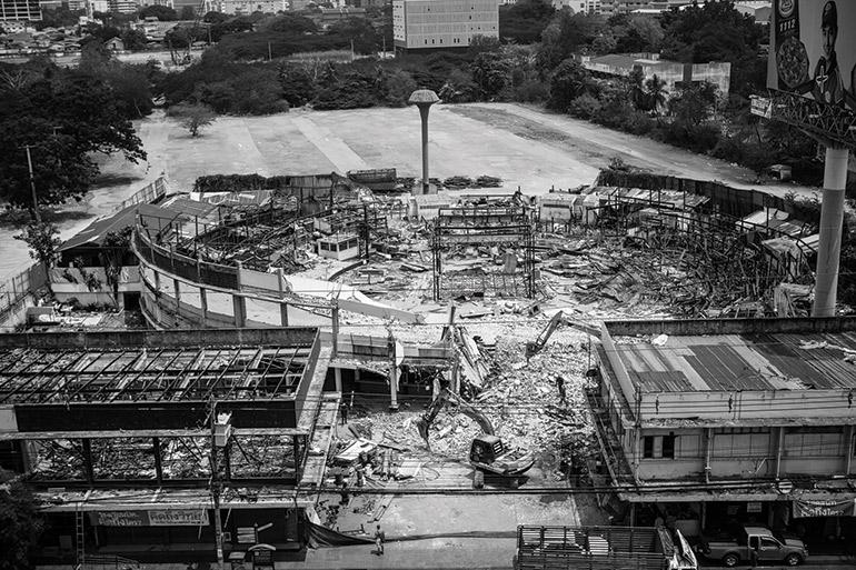the old Lumpinee stadium is demolished