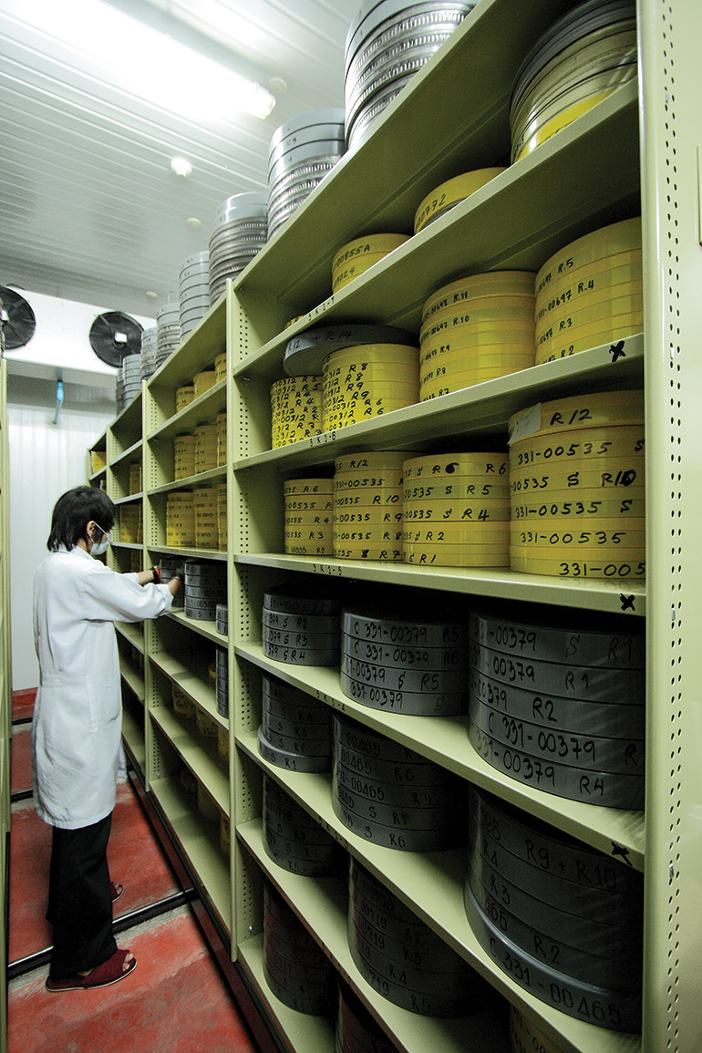 The Thai Film Archive's new temperature- and humidity-controlled storage vaults have room for up to 36,000 cans of film