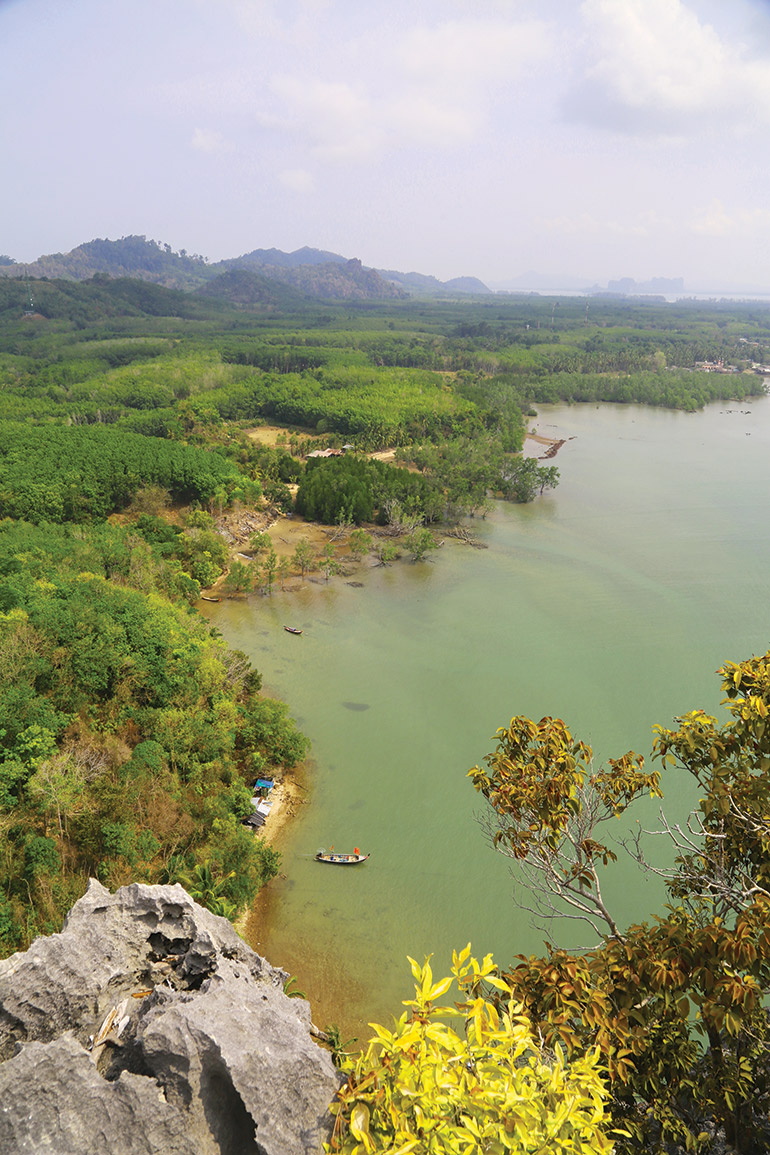 coastal view from the summit of White Rock, better known as Dugong Point, on Koh Libong