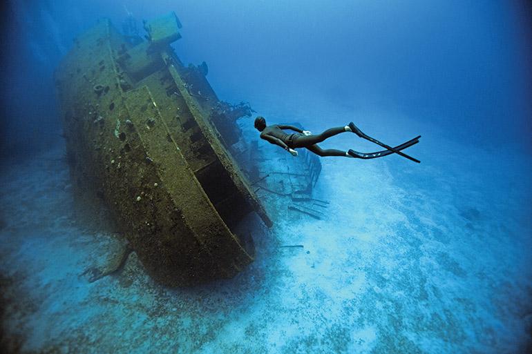 A free diver
