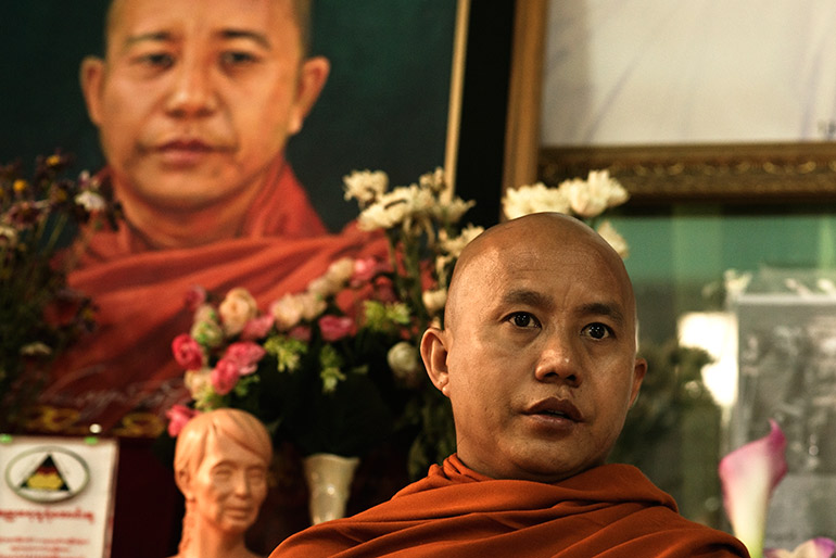 controversial monk Wirathu is one of Myanmar's most high-profile Buddhist nationalists