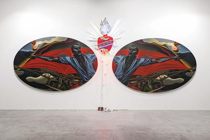"Revolutionary Past"" by Leslie de Chavez (top); Vasan Sithiket's ""I Love Thai Culture"". Photo supplied"