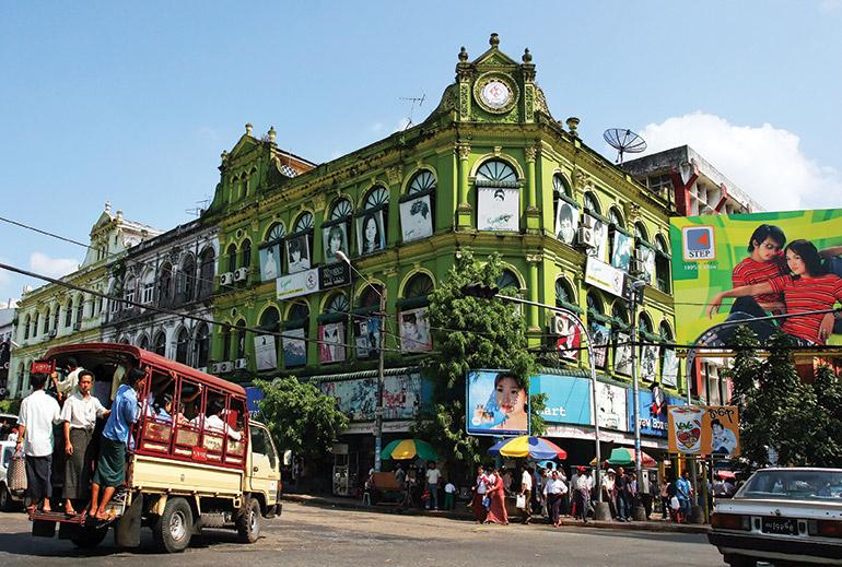 Yangon colonial architecture