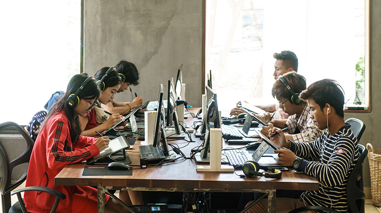 Cambodia's cartoonists sketch out grand designs for animation domination