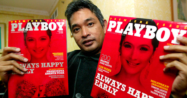 The editor of Playboy Indonesia