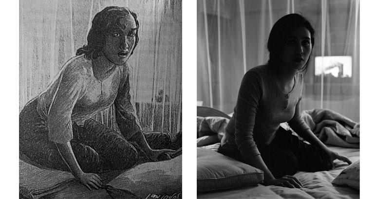 Original illustrations by Hem Vejakorn depicted in photograph by Chuenmana Photo: Pattana Chuenmana/Richard Koh Fine Art