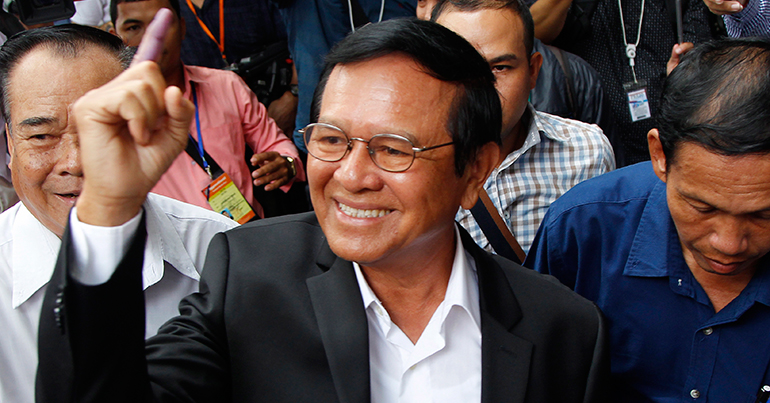 Cambodia's opposition leader released to home detention