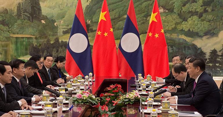 Thongloun Sisoulith_Xi Jinping_Beijing_China_Laos_Great Hall of the People_Nicolas Asfouri_Southeast Asia Globe 2018