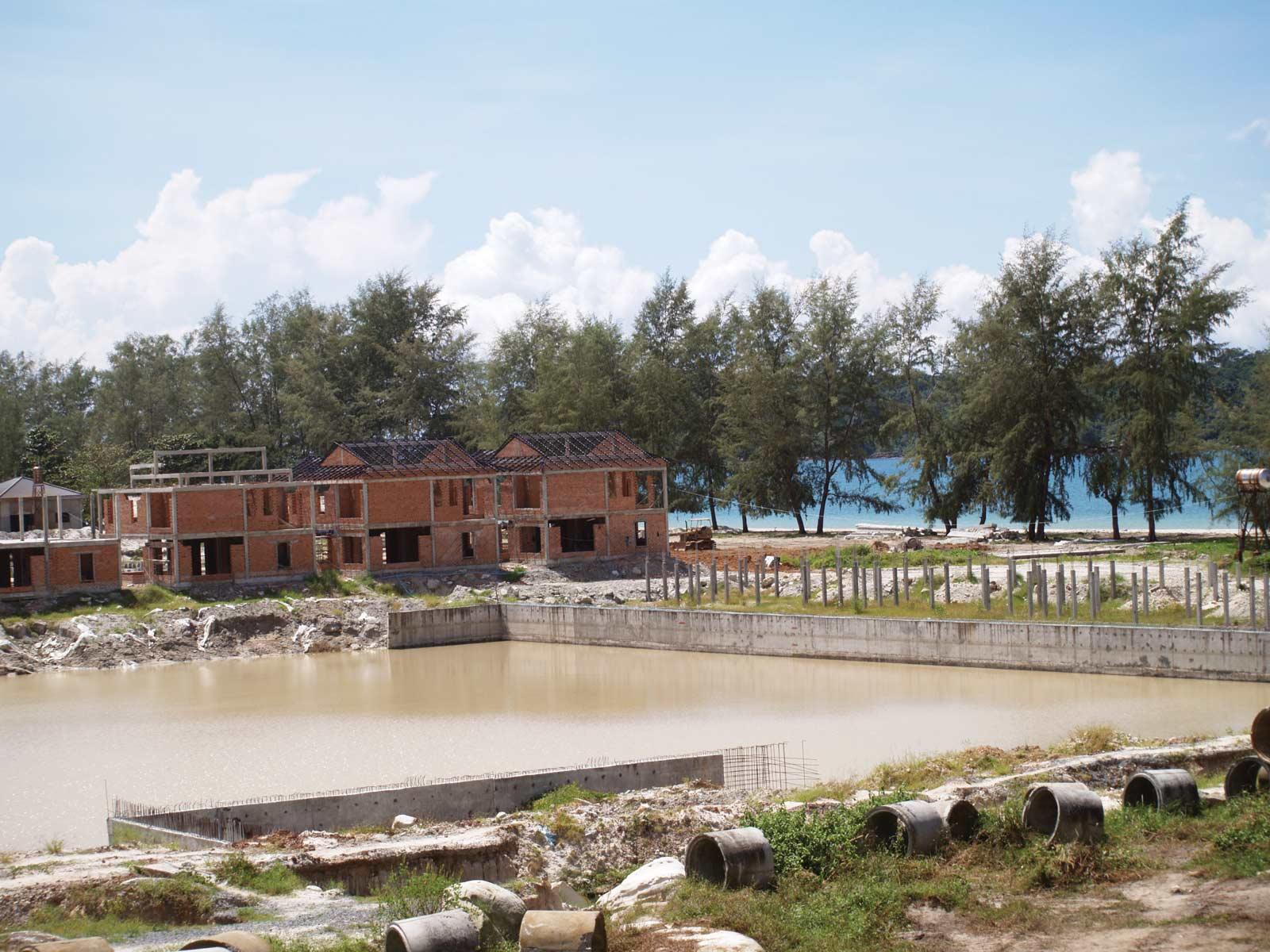 Wasted spaces: an empty beach near Sokha Beach Hotel