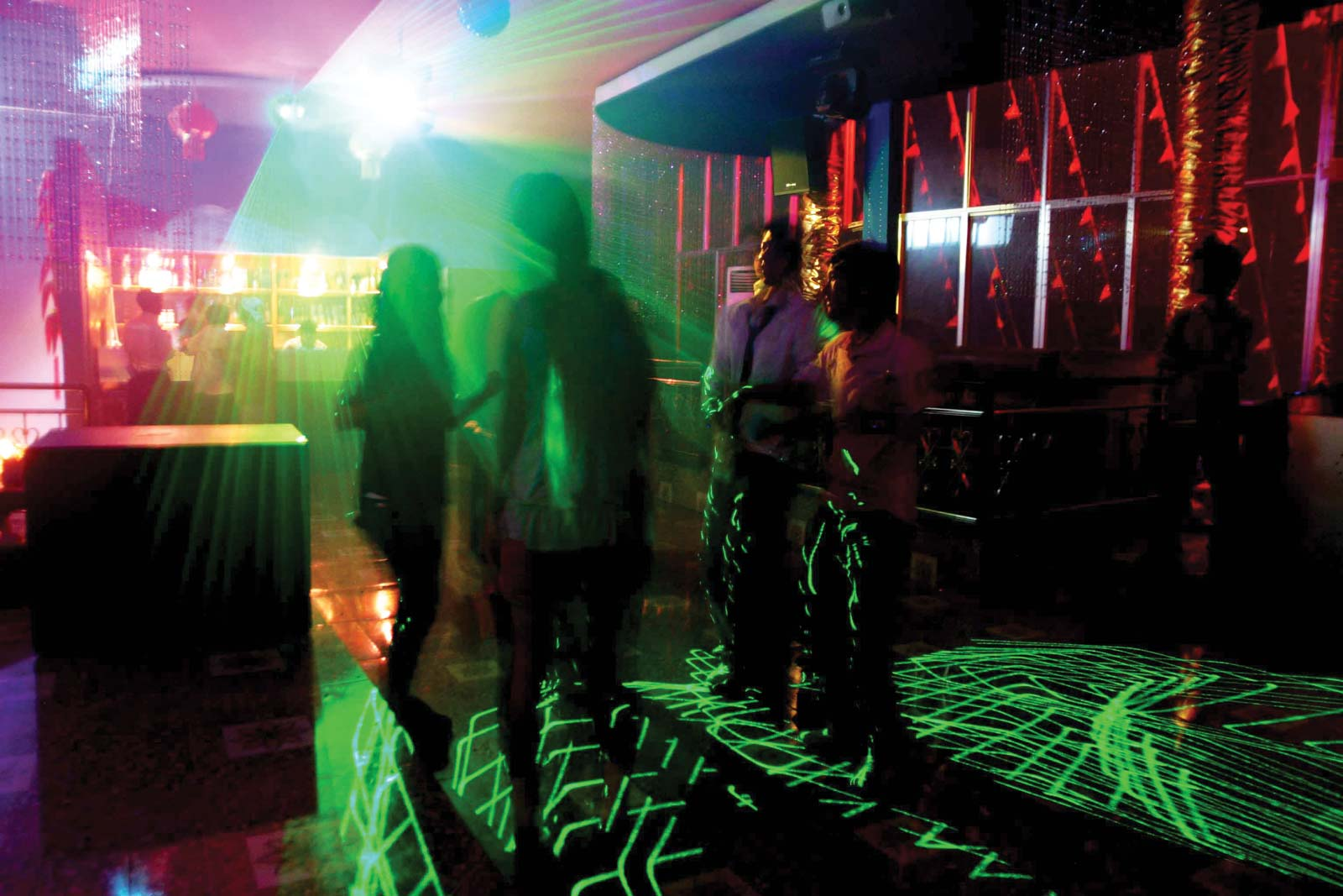 Panghsang's Babe nightclub offers an incongruous glimpse of glamour. Photo: Torgeir Norling