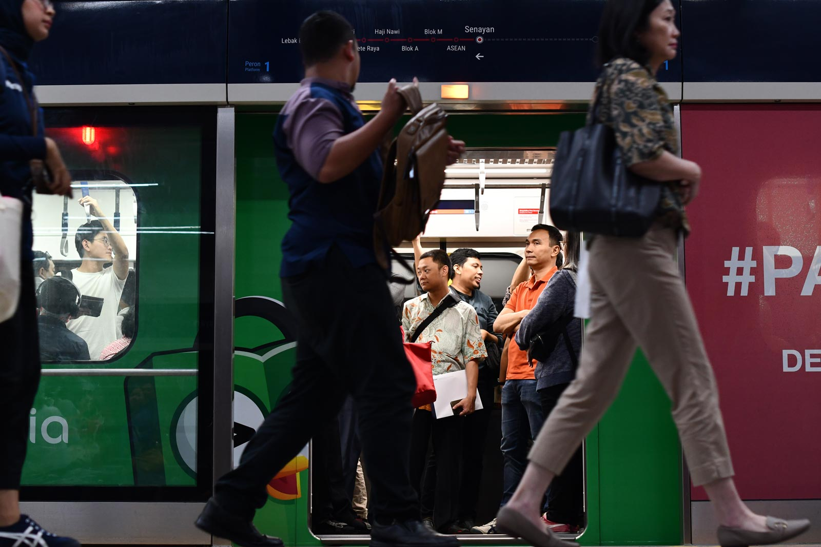 The Jakarta metro was a long-awaited infrastructure project that long pre-dated Widodo taking office but finally opened in 2019, shortly before Widodo's successful re-election as president. Photo: Simon Roughneen
