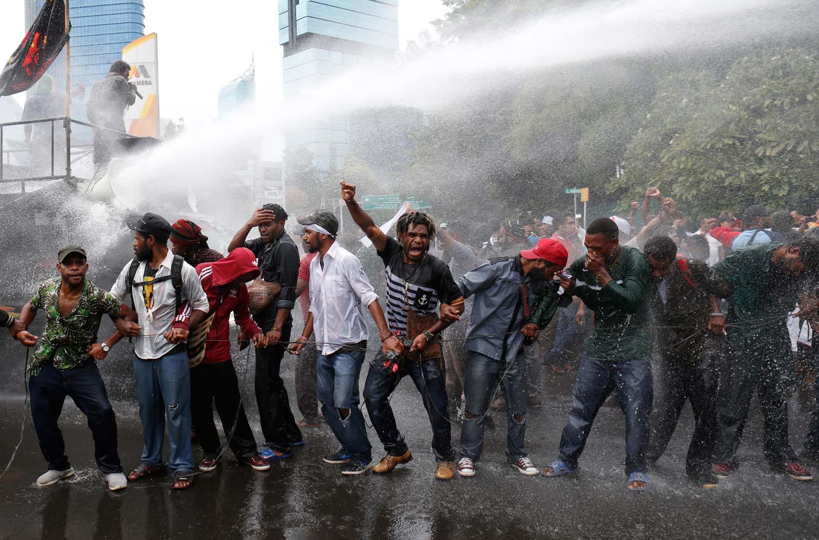 Pro-Papuan protestors in Jakarta. Photo: EPA