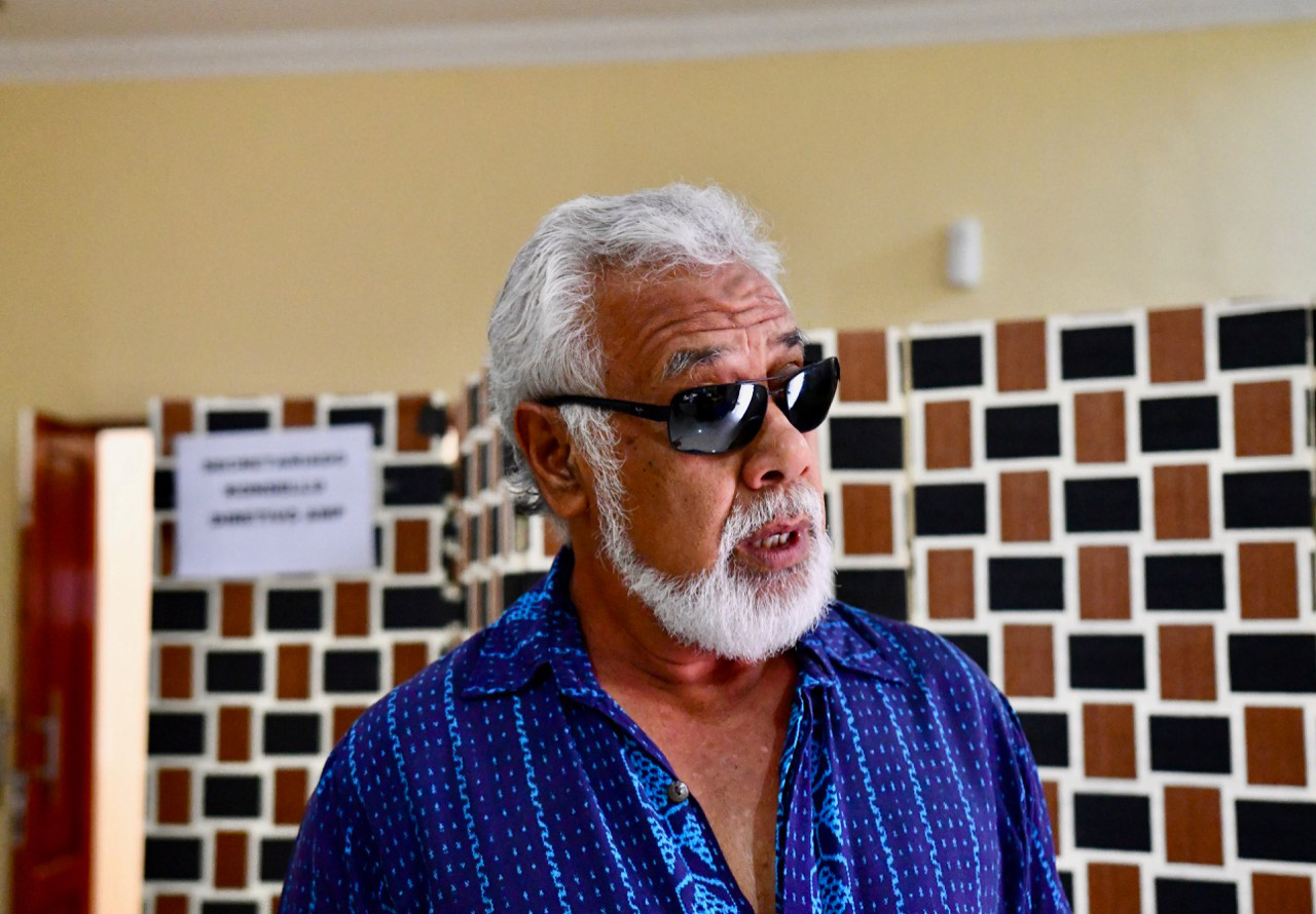 Xanana Gusmao, former prime minister and president of East Timor and a national hero for his role in the independence fight against Indonesia, pictured the week before East Timor's May 2018 parliamentary elections. Gusmao was the country's chief negotiator in the run-up to the recent maritime boundary deal with Australia. Photo: Simon Roughneen