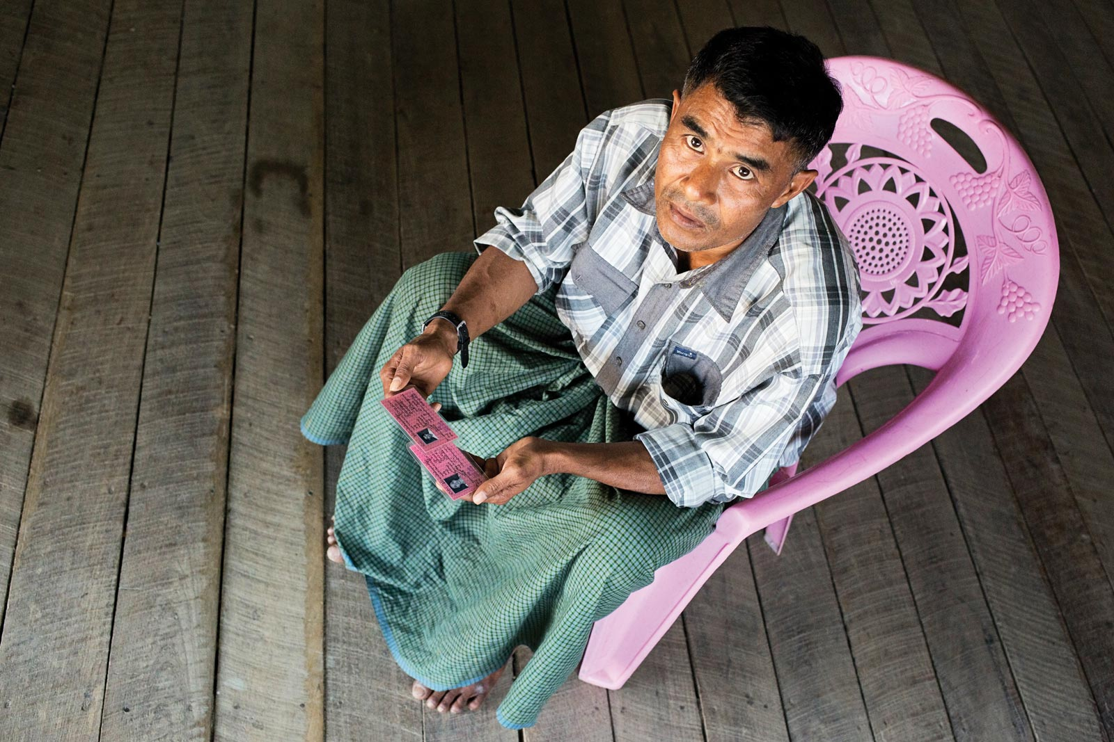 Maung Zaw, an ethnic Kaman who was branded a 'Bengali' on receiving citizenship in 2014. Photo: Antolín Avezuela Aristu
