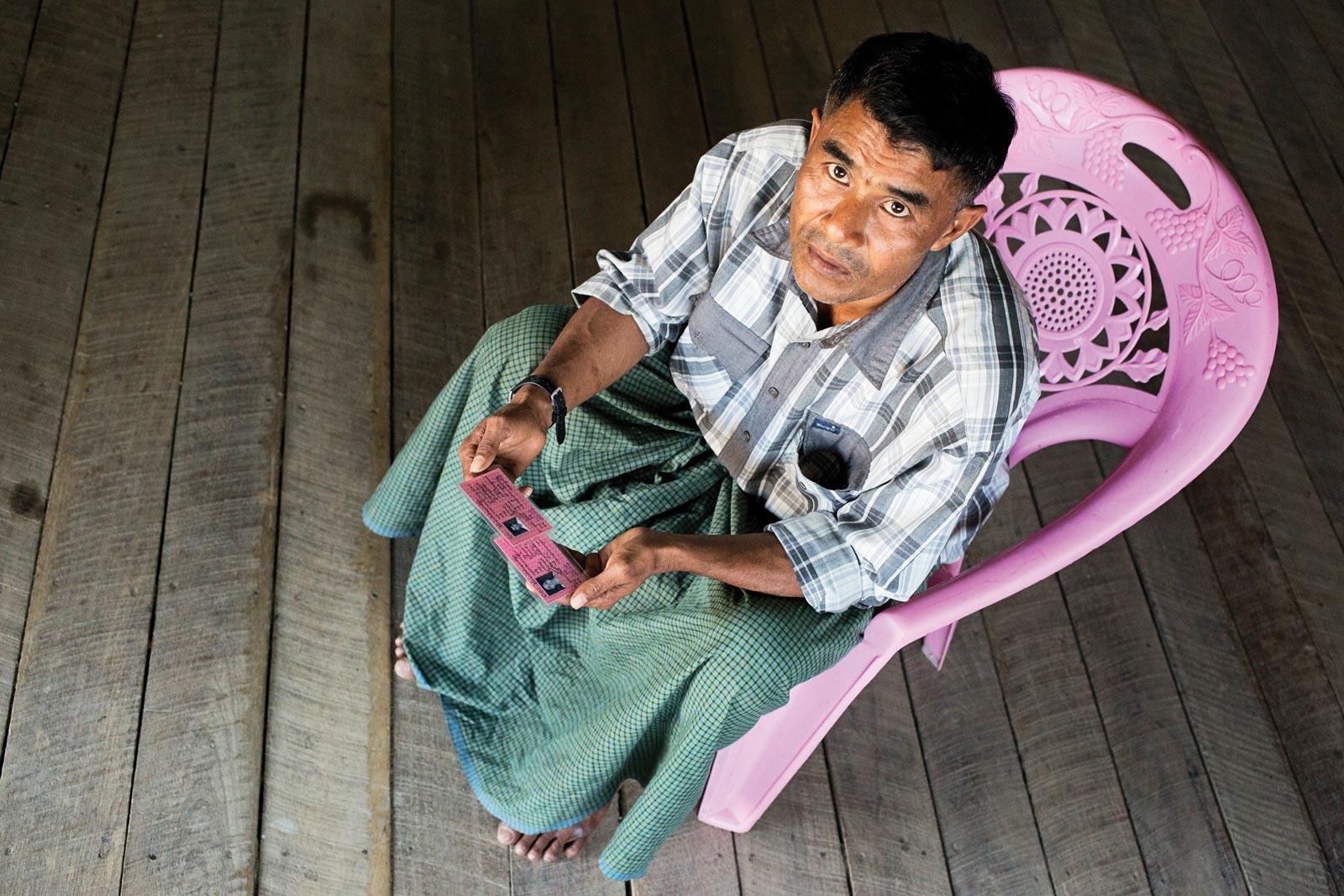 Maung Zaw, an ethnic Kaman who was branded a 'Bengali' on receiving citizenship in 2014. Photo: Antolín Avezuela Aristu