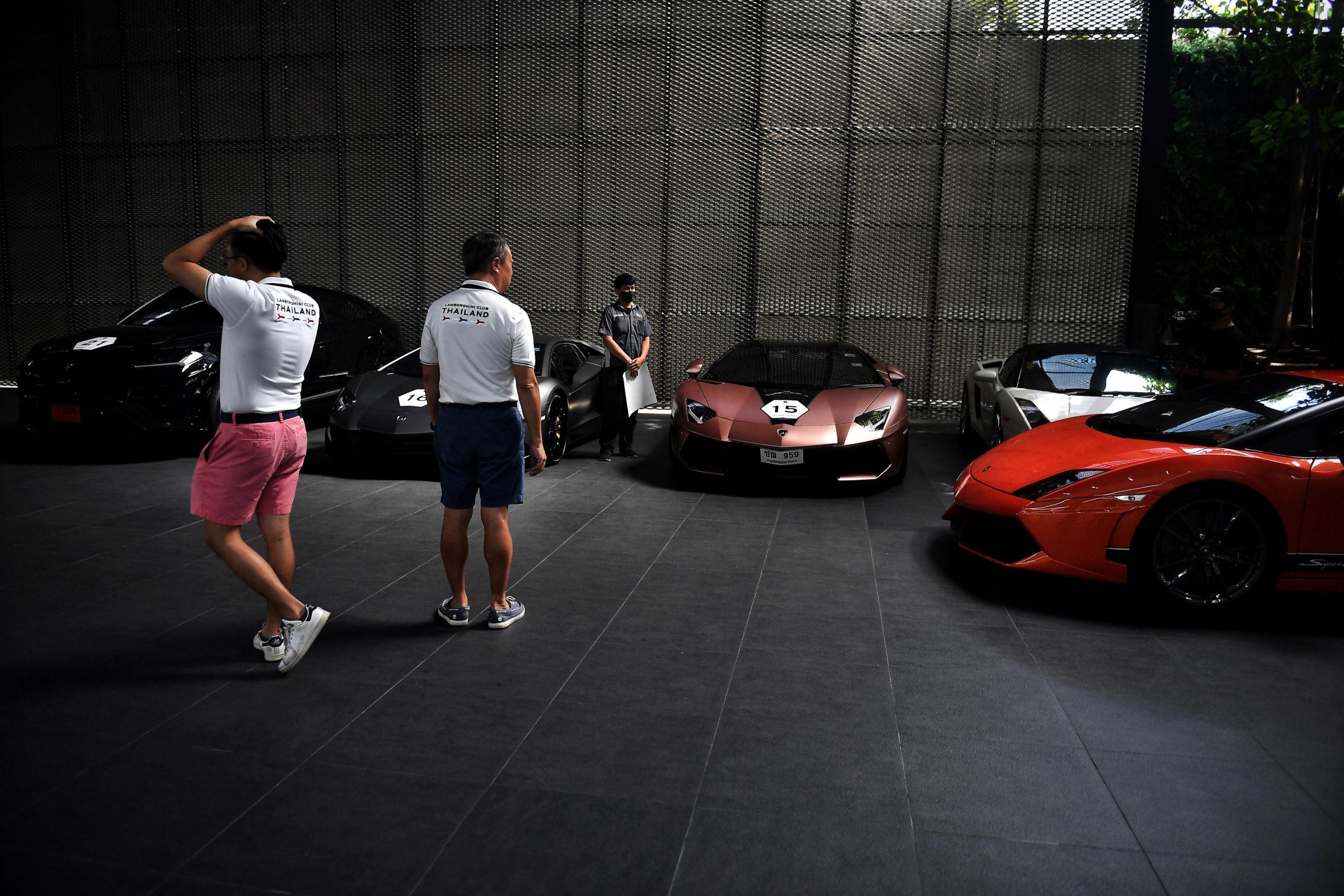 Supercars and champagne: Bangkok's rich purr through