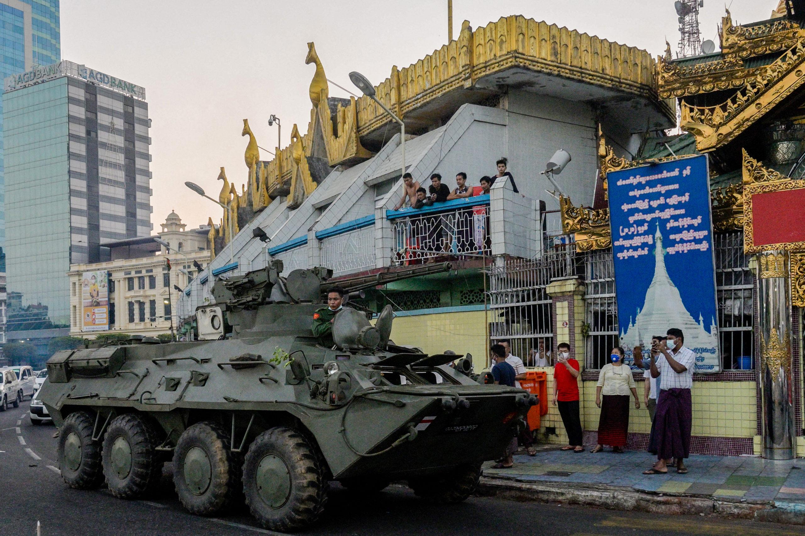 Protests after Myanmar junta cuts internet, deploys troops