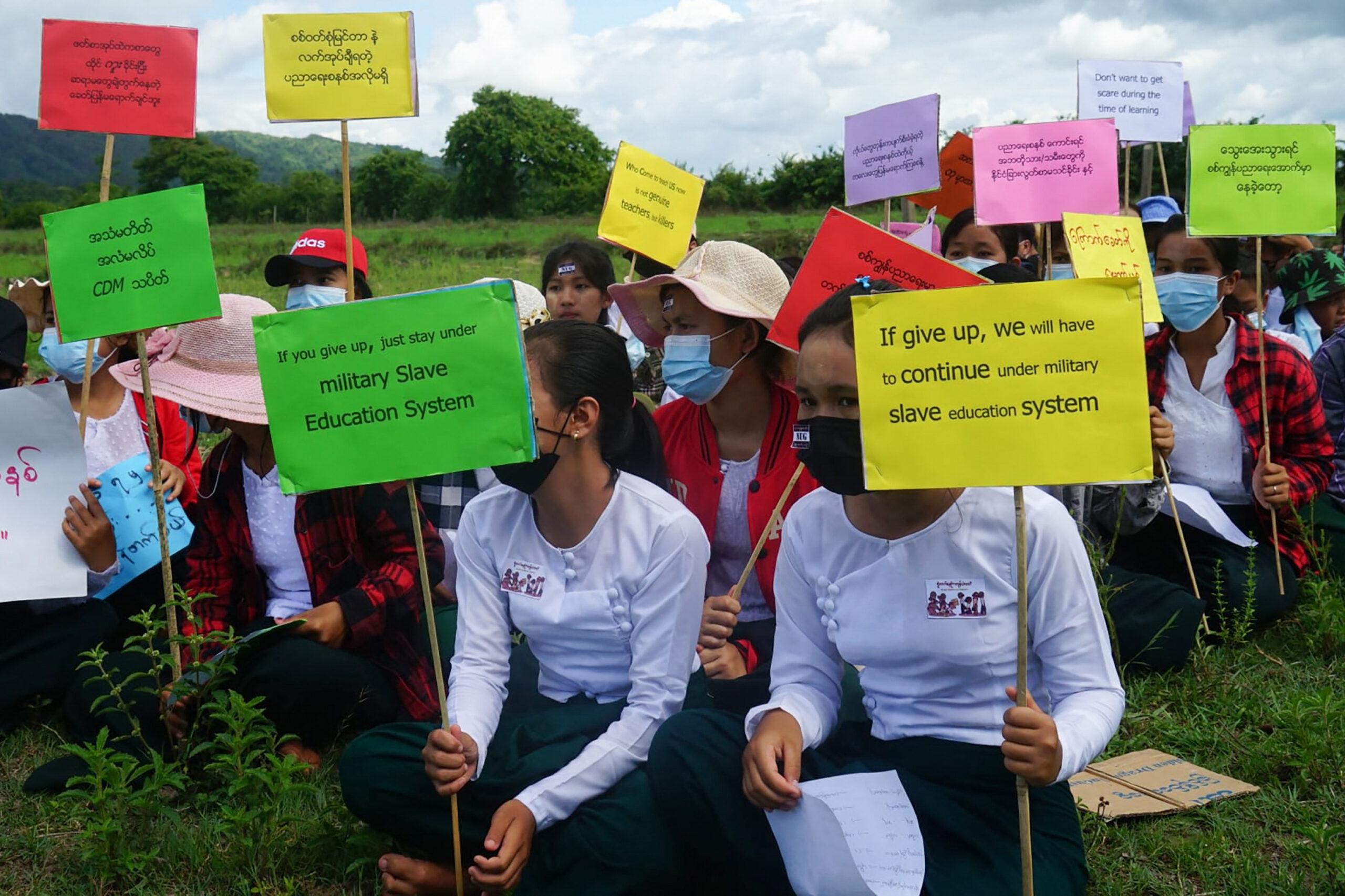School's out for Myanmar students defying junta threats